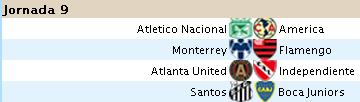 Alineaciones Liga Santander - Jornada 9 S910