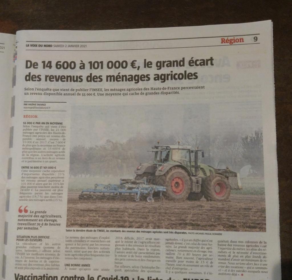 Le revenu des agris des hauts de France... 20210110