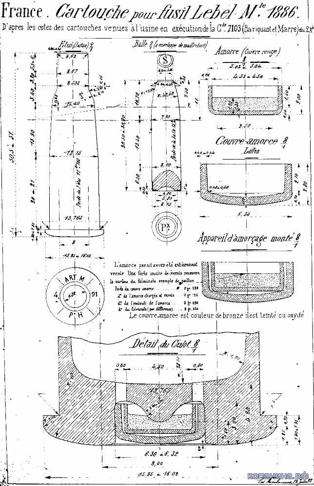 """8mm Lebel - Modifier """"N"""" 211"""