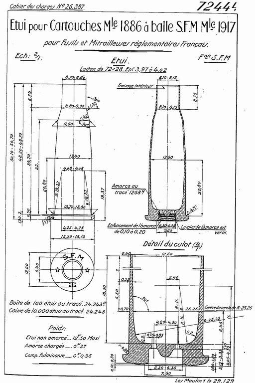 """8mm Lebel - Modifier """"N"""" 310"""