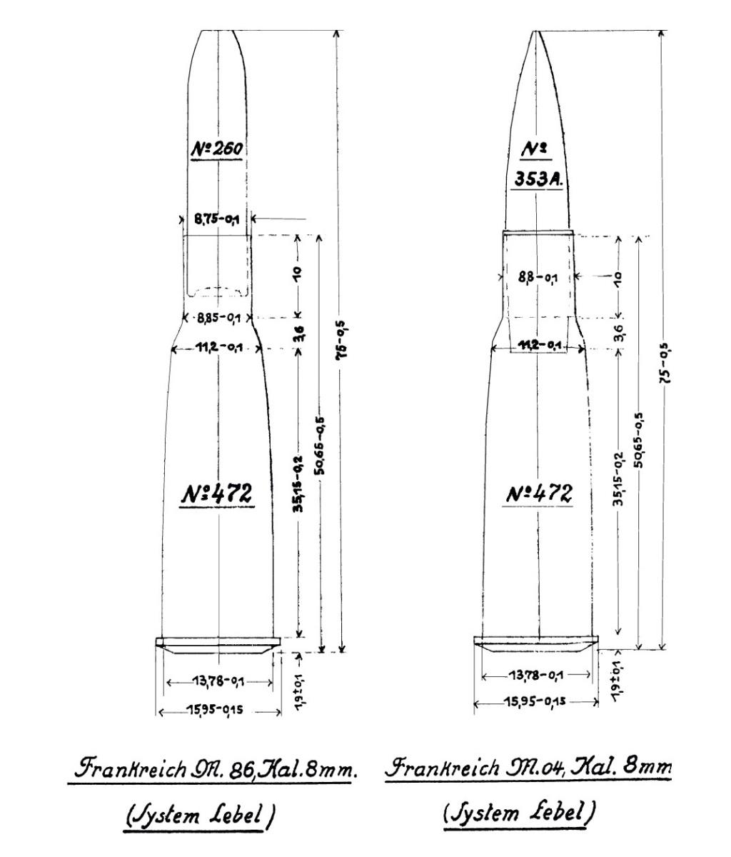 """8mm Lebel - Modifier """"N"""" 410"""