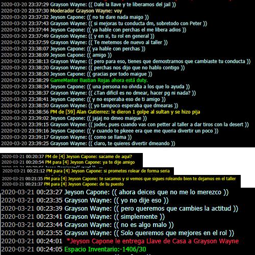 reporte a maiguelinch Log112