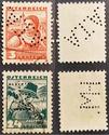 Lochung auf Briefmarken - Perfin - Österreich Marke_12