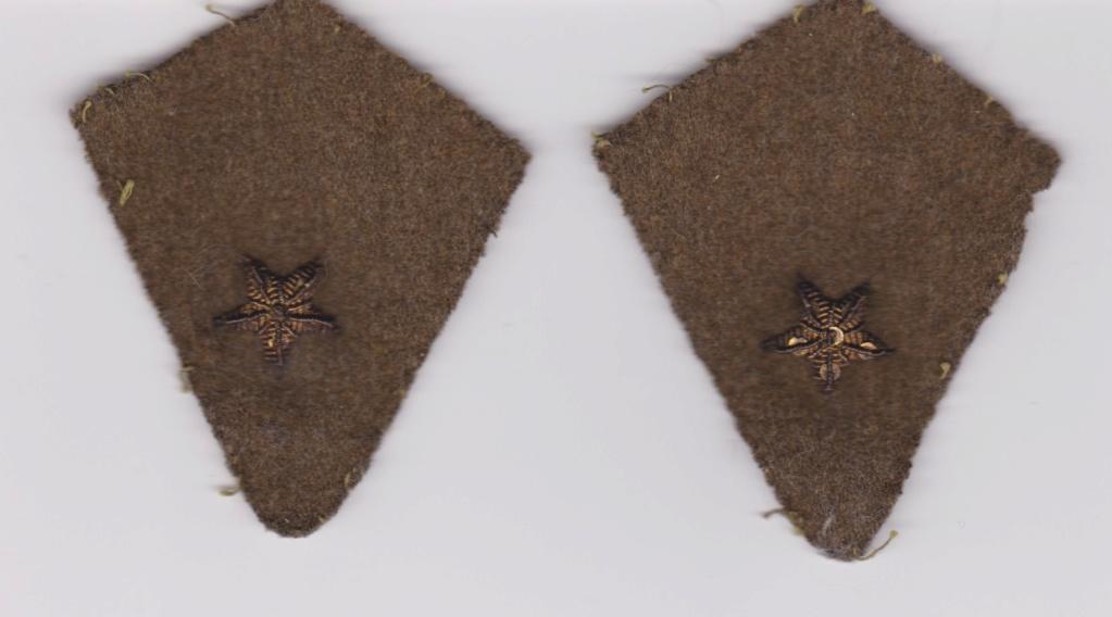 Identification pattes de col avec étoile brodée. Numzor28