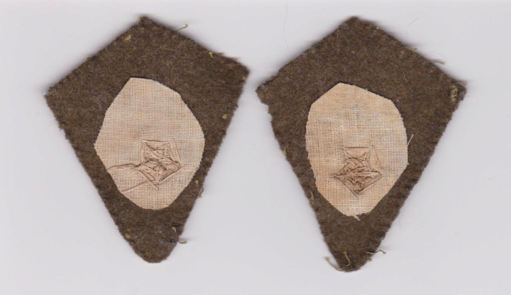 Identification pattes de col avec étoile brodée. Numzor29