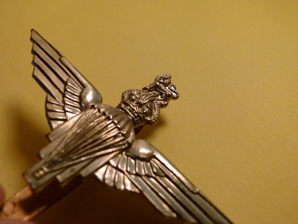 Authentification cap badge parachute regiment GB. P1060423