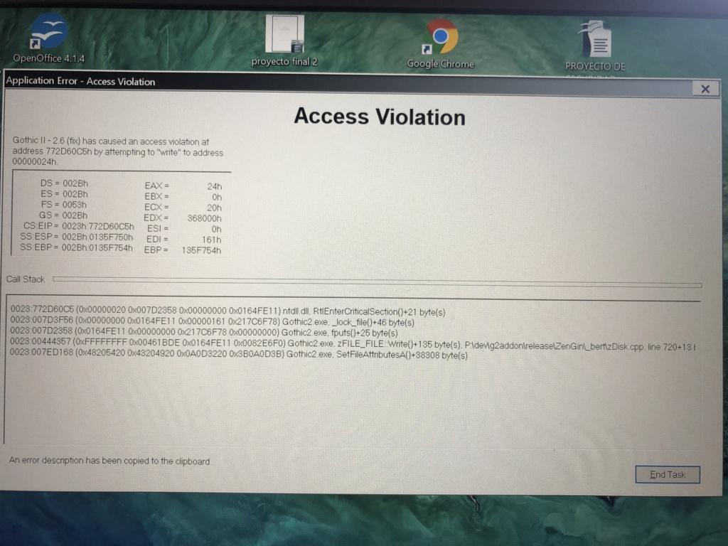 Access Violation D1e20b10