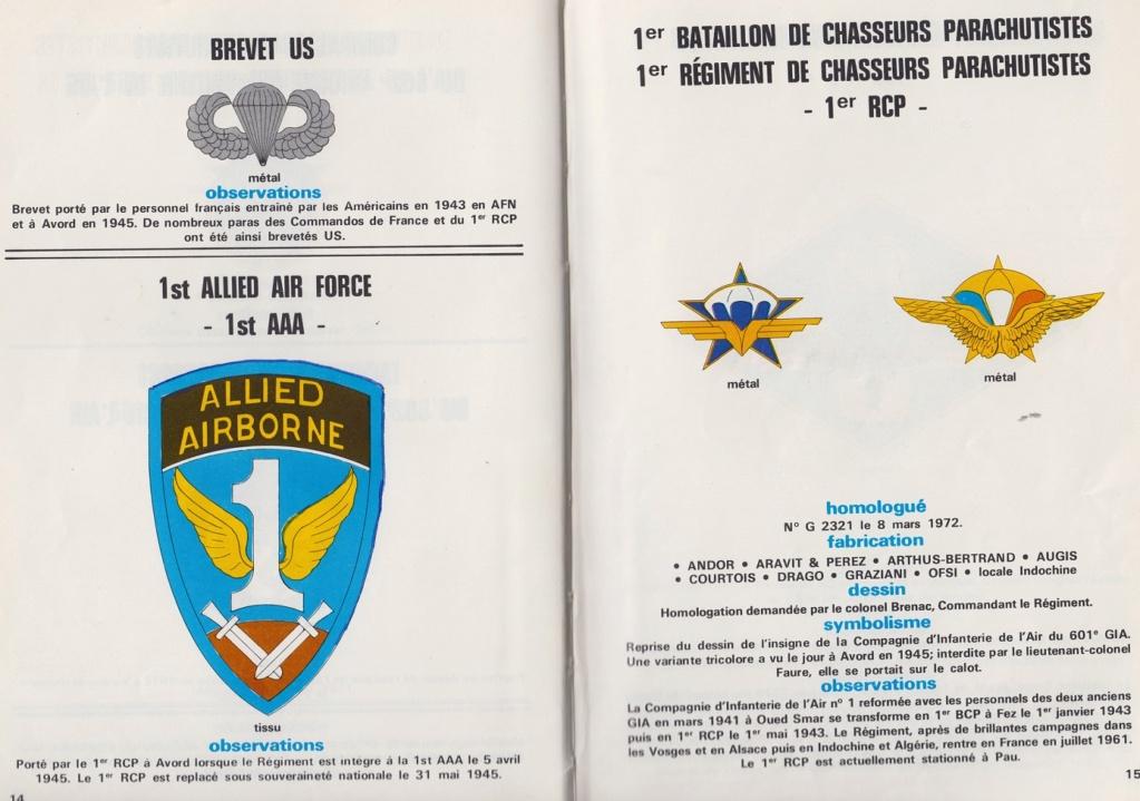 Insignes des troupes aéroportées Françaises  2110