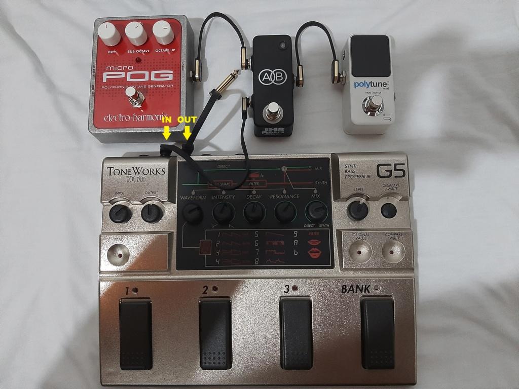 Cabo Y em pedal A/B Box 20210611
