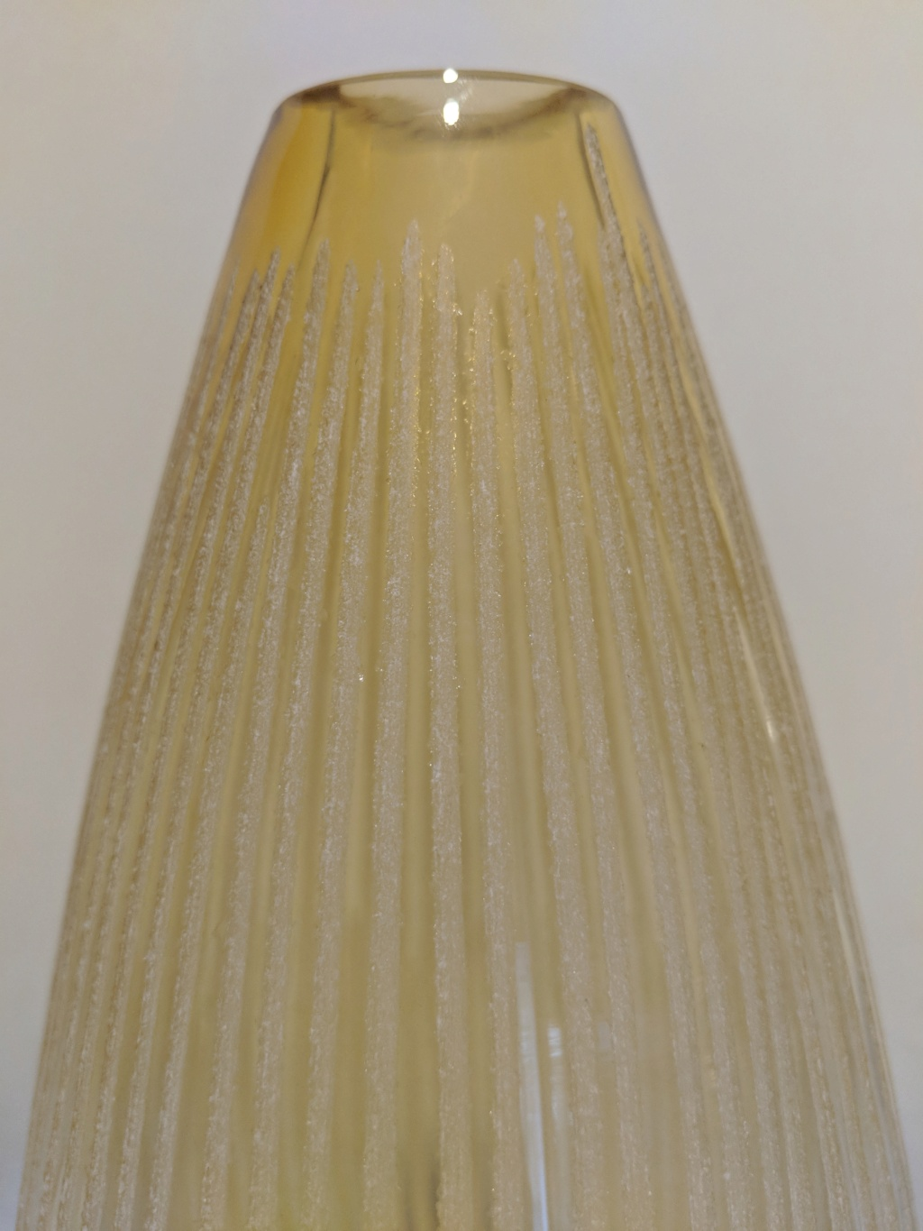tall vase with overshot glass vertical ribs  Img_2019