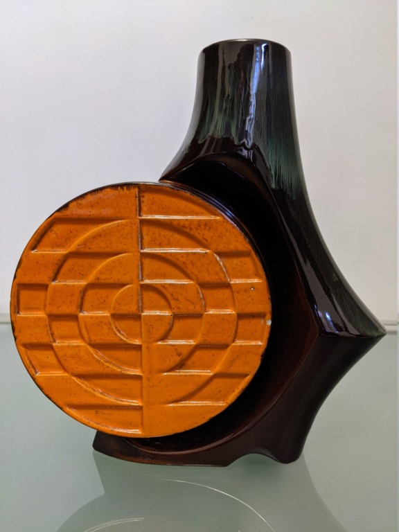 orange and black radial vase  Pxl_2086