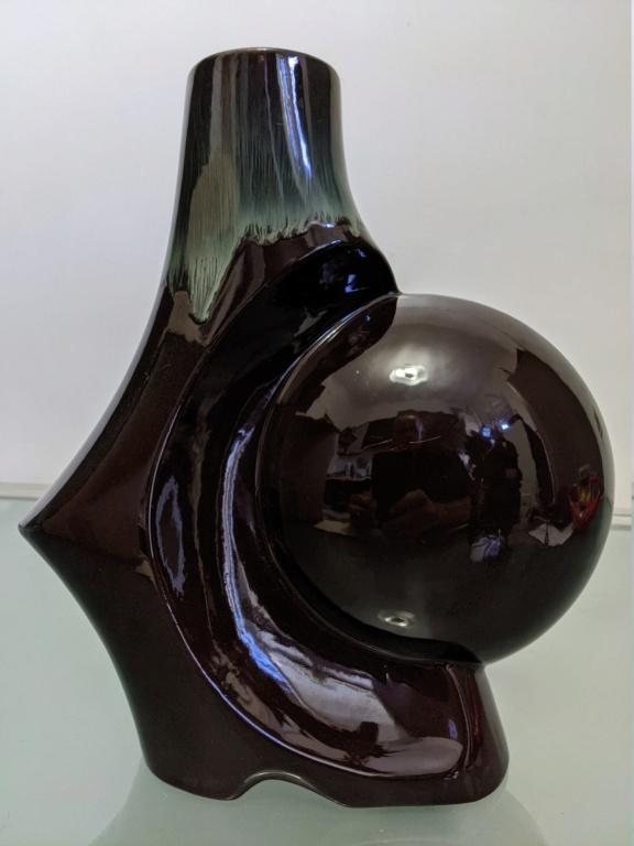orange and black radial vase  Pxl_2087