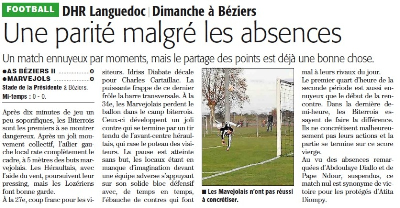 AS Béziers / MARVEJOLS Abezml10