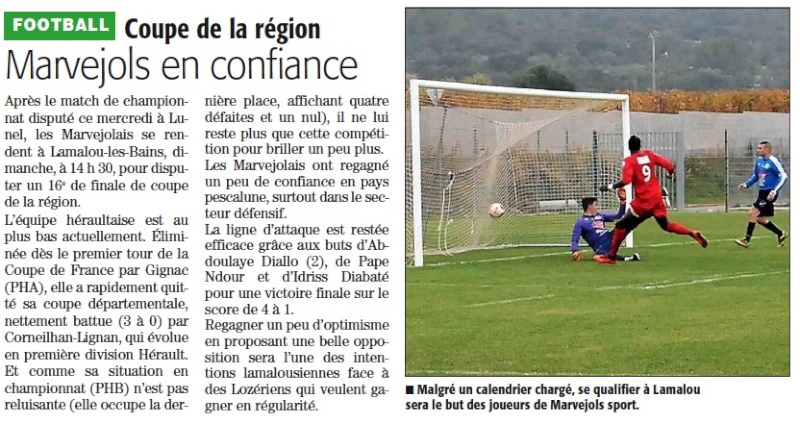 1/16 ème finale Coupe de la Région Avantl11