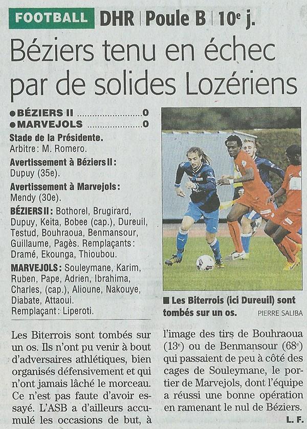 AS Béziers / MARVEJOLS Bezier11