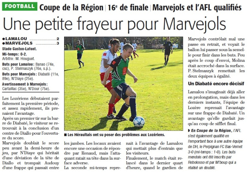 1/16 ème finale Coupe de la Région Lamalo10