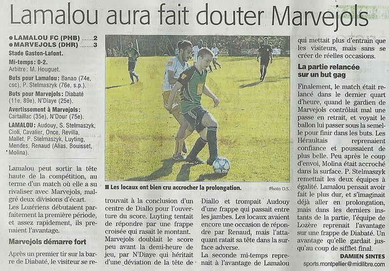 1/16 ème finale Coupe de la Région Lamalo11