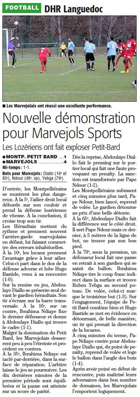 Petit-Bard Montpellier / MARVEJOLS Pbard110
