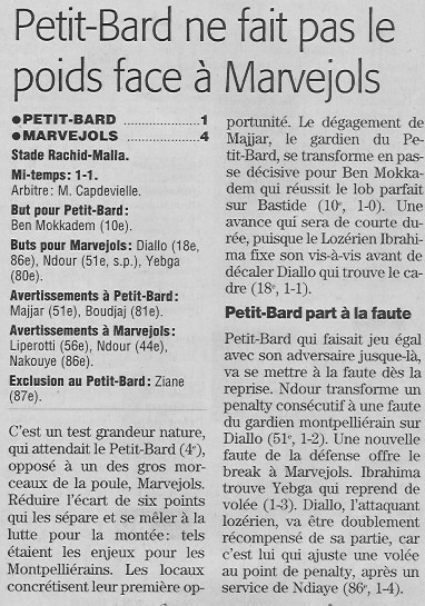 Petit-Bard Montpellier / MARVEJOLS Pbardm10