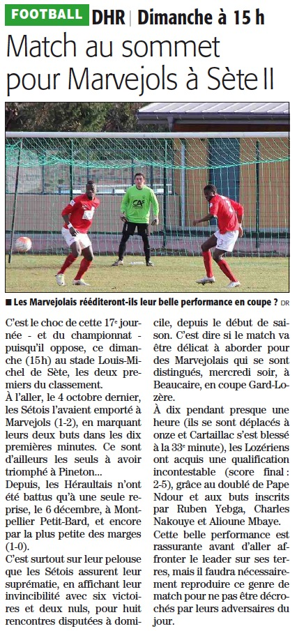 FC Sète / MARVEJOLS Setema10