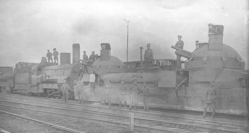 Train blindé Orlik des légions tchéques WW1, papier+Märklin Orlik310