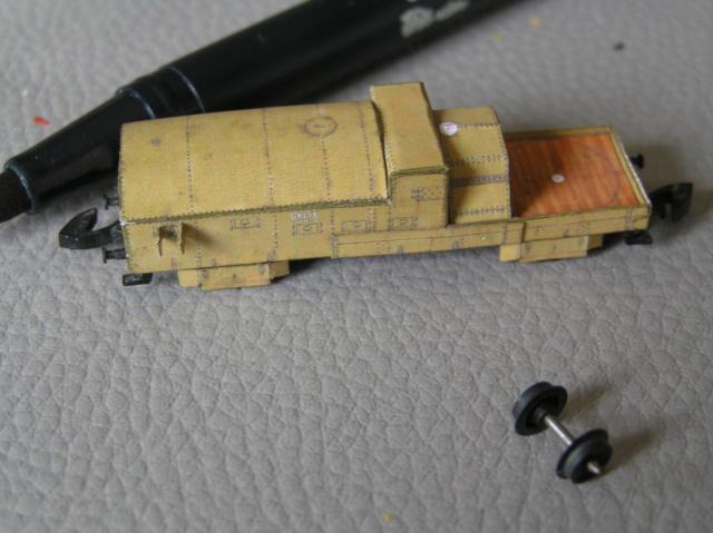 Train blindé Orlik des légions tchéques WW1, papier+Märklin P9300013