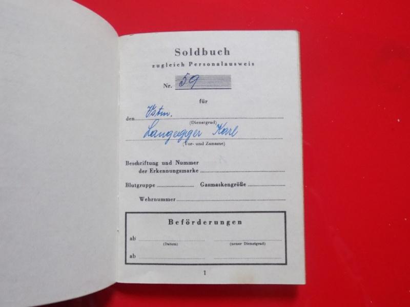 Vos livrets militaires allemands WWII (Soldbuch, Wehrpass..) / Heer-LW-KM-SS... - Page 2 Dscn3510