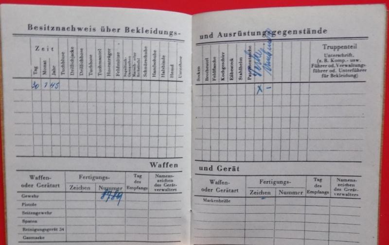 Vos livrets militaires allemands WWII (Soldbuch, Wehrpass..) / Heer-LW-KM-SS... - Page 2 Dscn3512