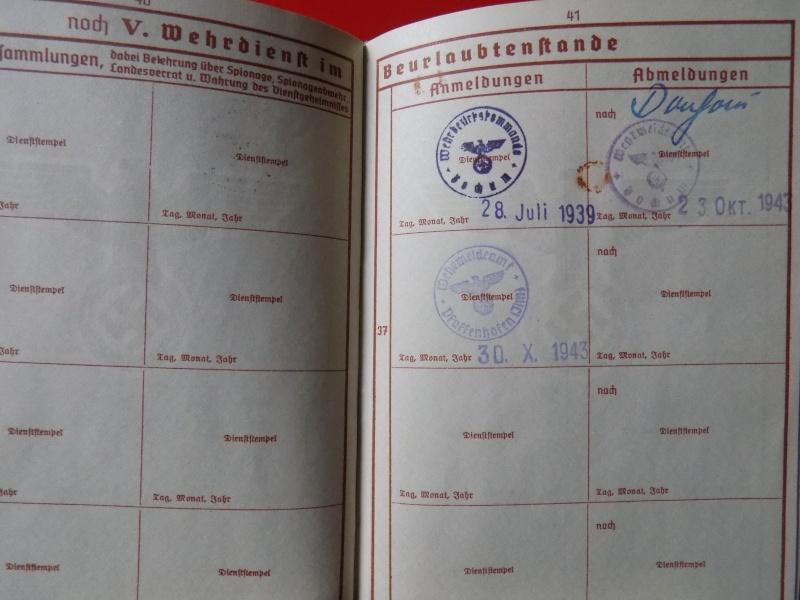 Vos livrets militaires allemands WWII (Soldbuch, Wehrpass..) / Heer-LW-KM-SS... - Page 3 Lening20
