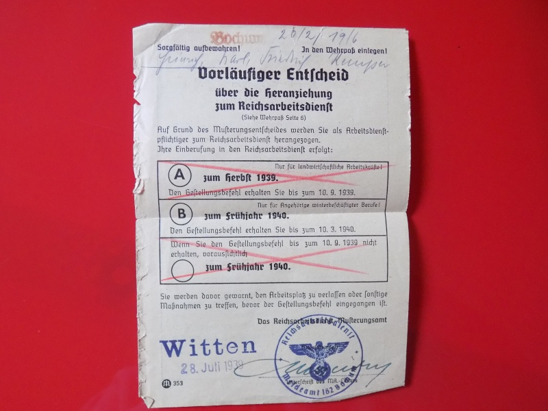 Vos livrets militaires allemands WWII (Soldbuch, Wehrpass..) / Heer-LW-KM-SS... - Page 3 Lening22
