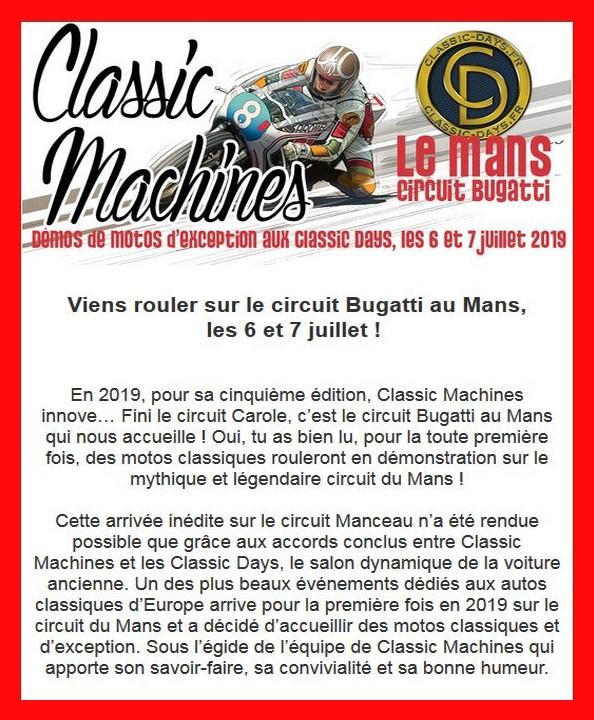 Classic Machines au Mans, les 6 et 7 juillet Classi11