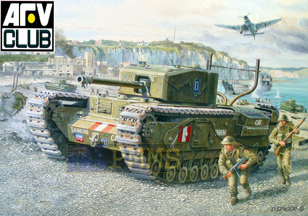 AFV Club Churchill MK III 1942 Dieppe 1/35 Dieppe10