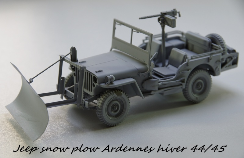 Jeep snow plow - Base Tamiya + conversion Minor Models et Plus Model - 1/35 Imgp6553