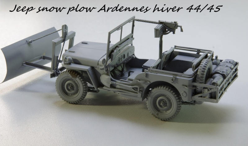 Jeep snow plow - Base Tamiya + conversion Minor Models et Plus Model - 1/35 Imgp6554