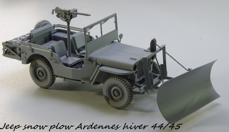 Jeep snow plow - Base Tamiya + conversion Minor Models et Plus Model - 1/35 Imgp6555