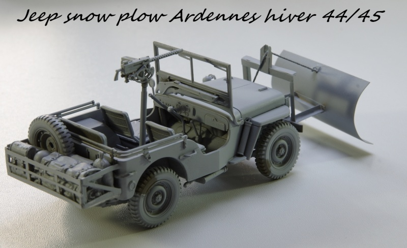 Jeep snow plow - Base Tamiya + conversion Minor Models et Plus Model - 1/35 Imgp6556