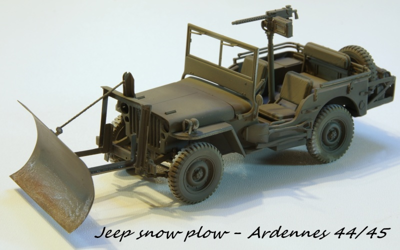 Jeep snow plow - Base Tamiya + conversion Minor Models et Plus Model - 1/35 Imgp6558