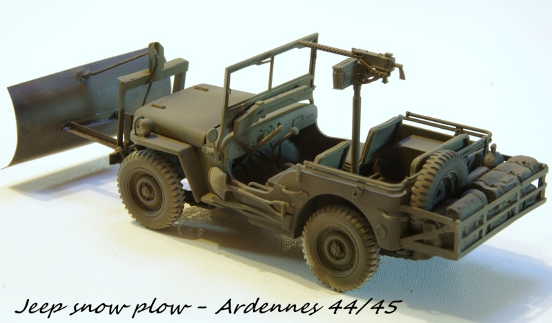 Jeep snow plow - Base Tamiya + conversion Minor Models et Plus Model - 1/35 Imgp6559