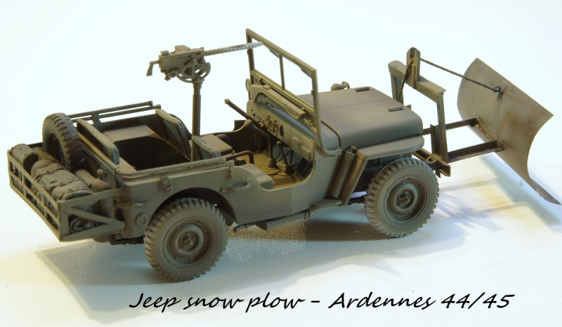 Jeep snow plow - Base Tamiya + conversion Minor Models et Plus Model - 1/35 Imgp6560