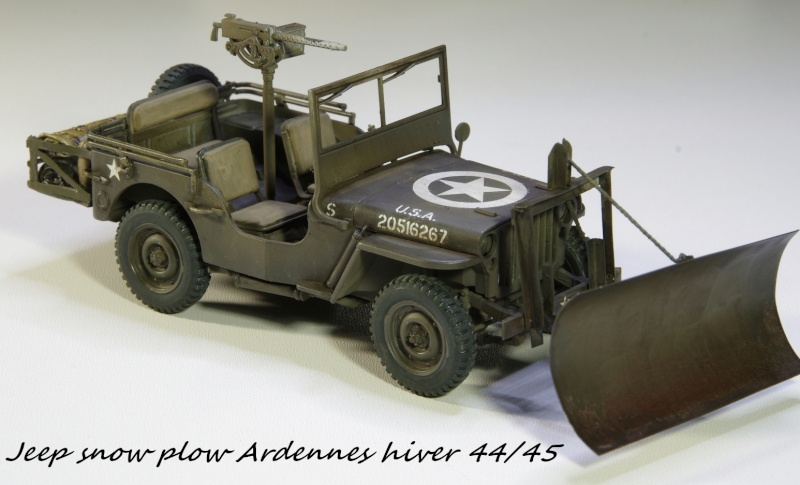 Jeep snow plow - Base Tamiya + conversion Minor Models et Plus Model - 1/35 Imgp6564