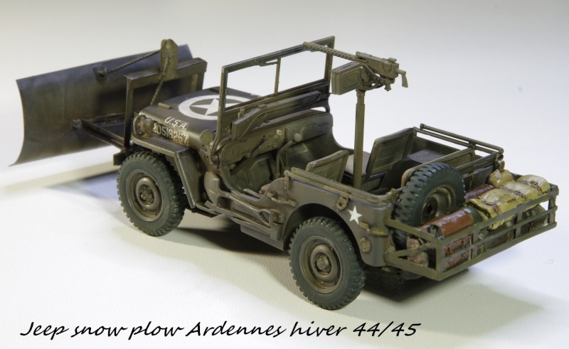 Jeep snow plow - Base Tamiya + conversion Minor Models et Plus Model - 1/35 Imgp6565