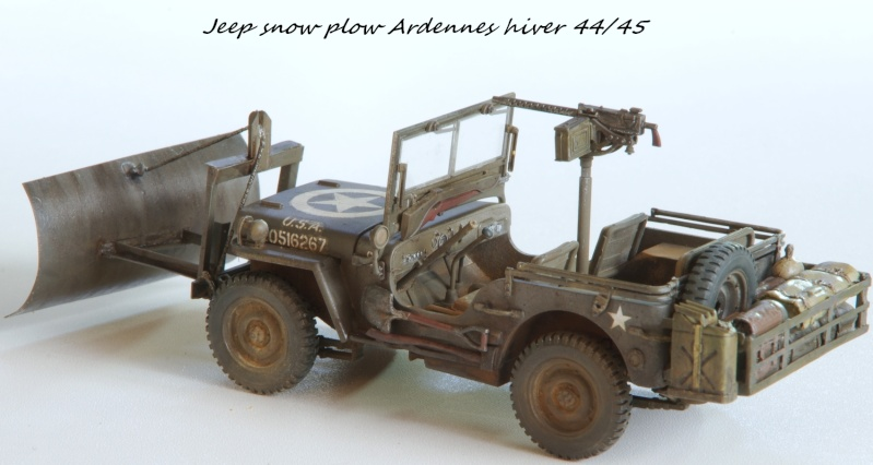 Jeep snow plow - Base Tamiya + conversion Minor Models et Plus Model - 1/35 - Page 2 Imgp6571