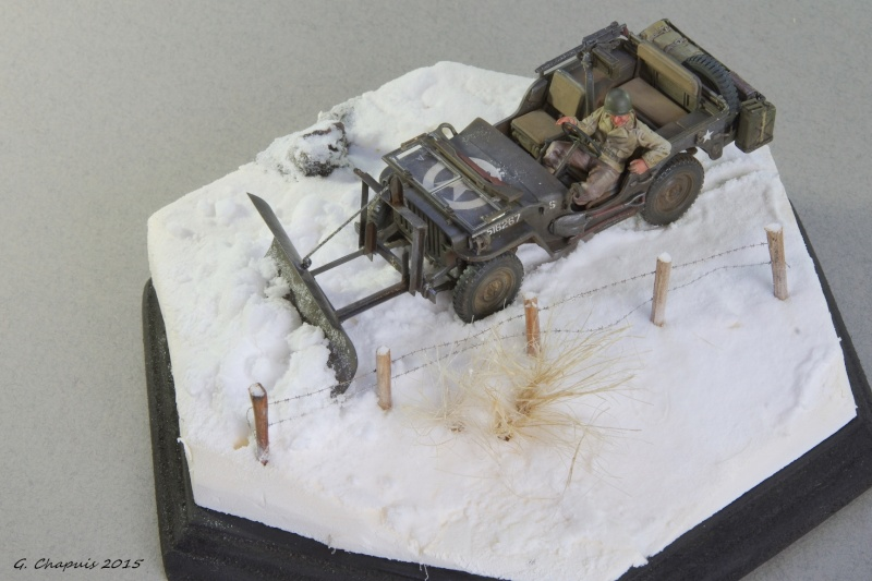 Jeep snow plow 1/35 Ardennes Hiver 44/45 Imgp6612