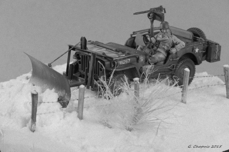 Jeep snow plow 1/35 Ardennes Hiver 44/45 Imgp6615