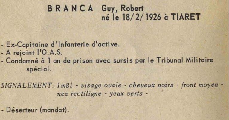 Décès du Capitaine (ER) Guy Branca Branca10