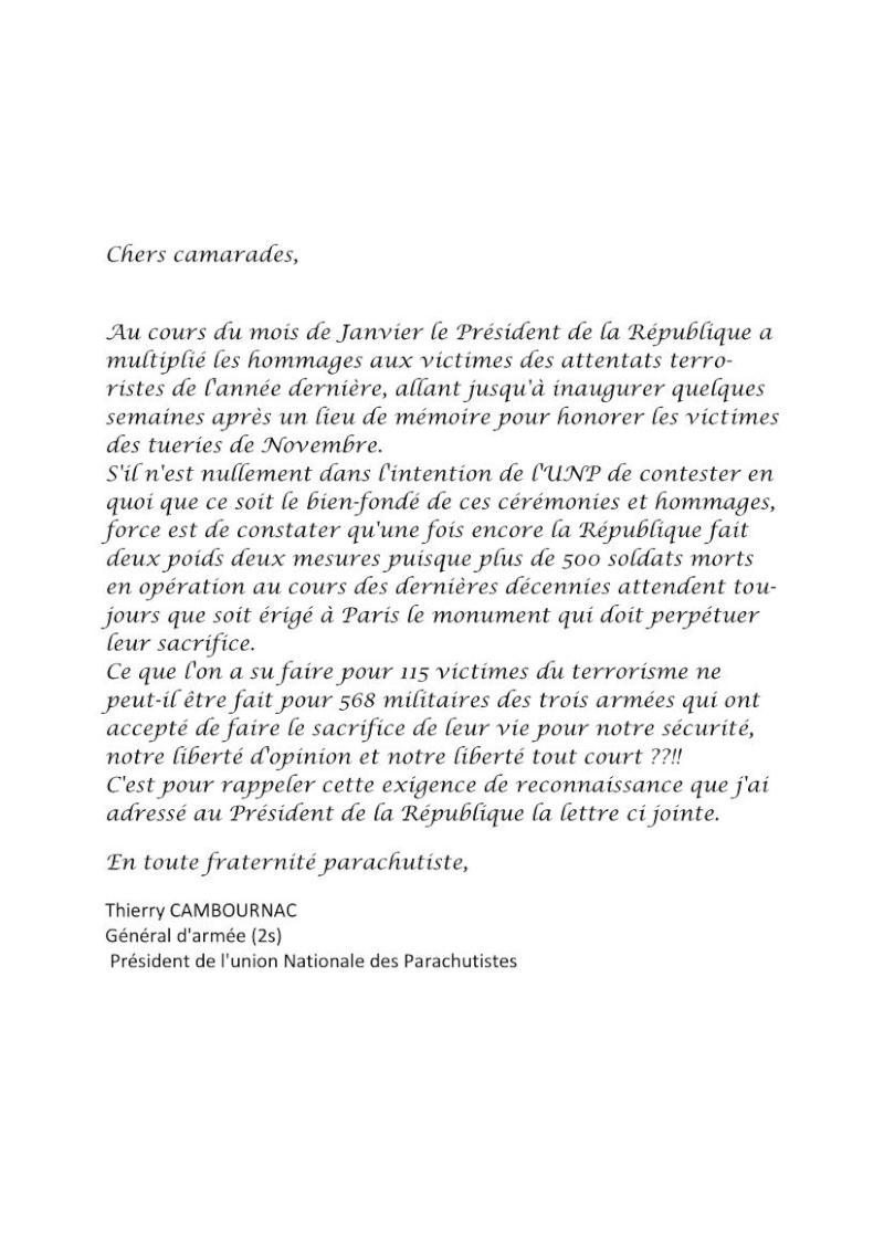 Information au 1er RCP d'une lettre adressée au président de la République par le général Cambournac Président de l'UNP Unp_lz10