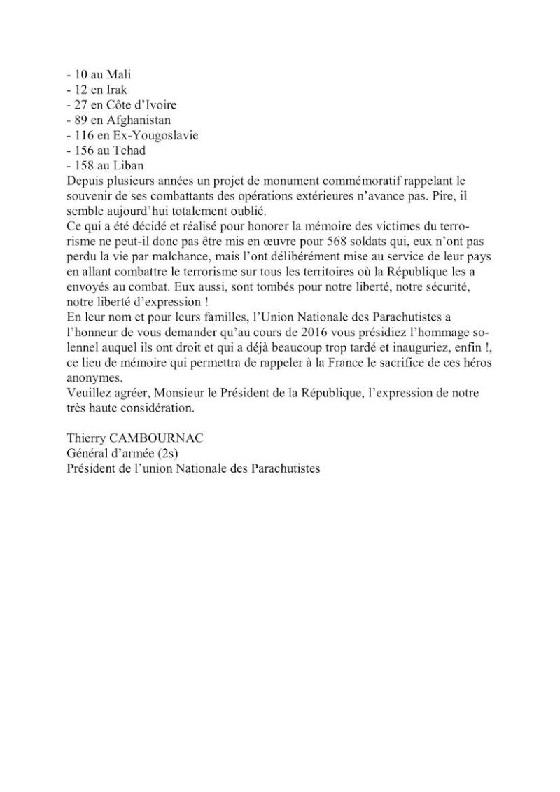 Information au 1er RCP d'une lettre adressée au président de la République par le général Cambournac Président de l'UNP Unp_lz12