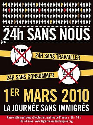 1er mars 2010 La journée sans immigrés Affich11