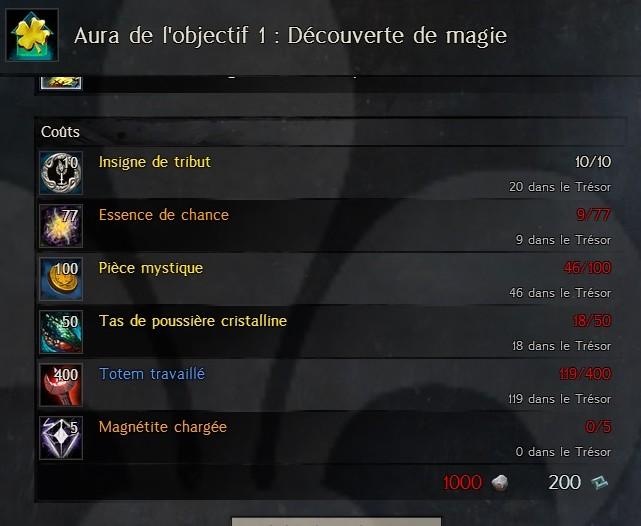 Aura de l'objectif 1 : découverte de magie Aura114