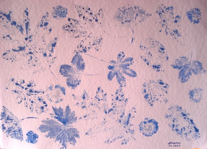 Bouquet de fleurs et feuilles d'automne (aquarelle) Dsc03913
